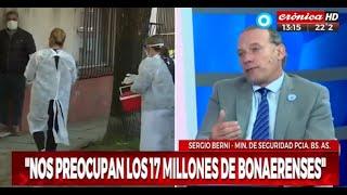 Sergio Berni niega que haya conflictos con CABA