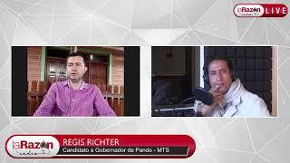 Entrevista a Regis Richter, candidato a la Gobernación de Pando. La Razón Radio 13-04-21