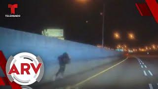 Un hombre salta de un puente para esquivar a la policía   Al Rojo Vivo   Telemundo