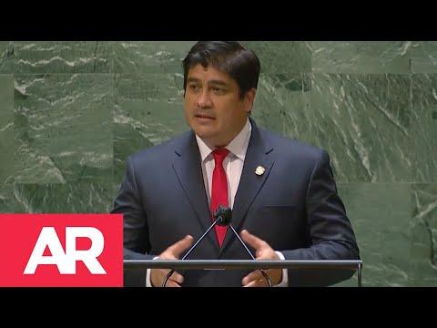 Carlos Alvarado ante la ONU: El futuro nos grita menos armamento militar, más inversión en paz.