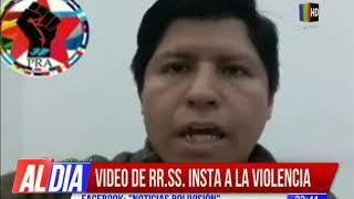 Investigan vídeo que incita a la violencia
