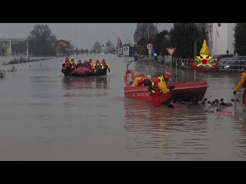 Major Flooding. Rescues in Northeastern Italy
