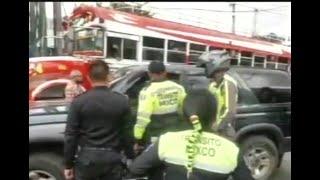 Un conductor es acusado de atropellar a una gente de la PMT