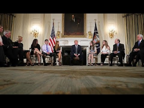 Trump hosts emotional 'listening session' with school shooting survivors
