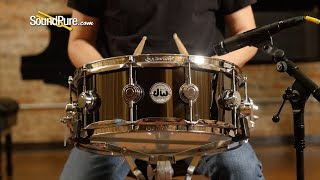 DW 5.5x14 Collectors Black Nickel over Brass Snare Drum—Quick 'n' Dirty