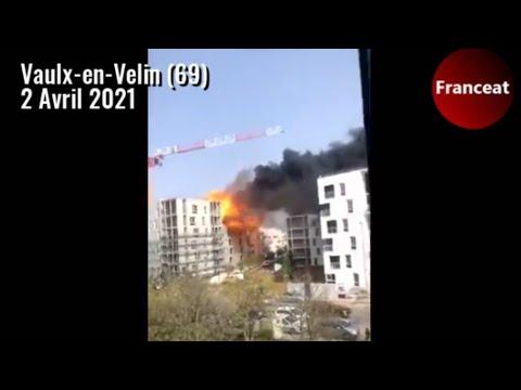Villeurbanne (69) : Grave incendie suite à une explosion de gaz sur un chantier