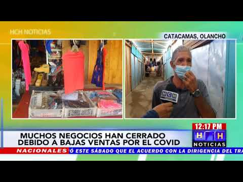 Bajas ventas por pandemia preocupa a locatarios en mercado de Catacamas
