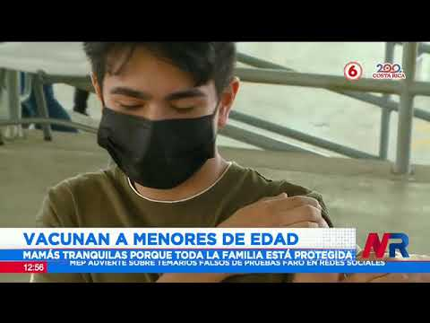Vacunan a menores de edad en San Rafael de Heredia