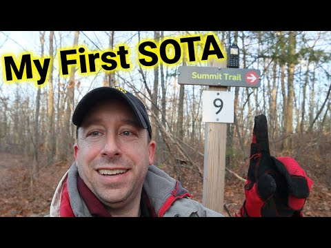 My First Ham Radio SOTA Activation From Peaked Mountain