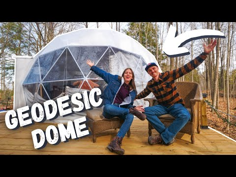 Staying in a GEODESIC DOME Just North of TORONTO 😍 | LUXURY GLAMPING Geodome Tour in Ontario, Canada