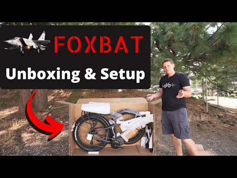 Easy Set Up Of The 1000w FOXBAT Electric Bike