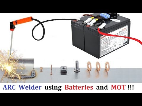 400 Amps ARC Welder using 12v 24v 48v setup from UPS Battery & Microwave Transformer