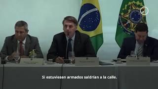 Bolsonaro dice que es fácil instalar una dictadura y pide armar al pueblo contra gobernadores
