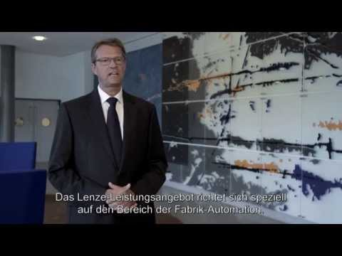 Lenze Vorstandsvorsitzender Christian Wendler stellt das Unternehmen vor