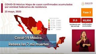 Suman 65,856 casos de Covid-19 en México; confirman 7,179 muertes
