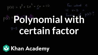 Constructing a polynomial that has a certain factor