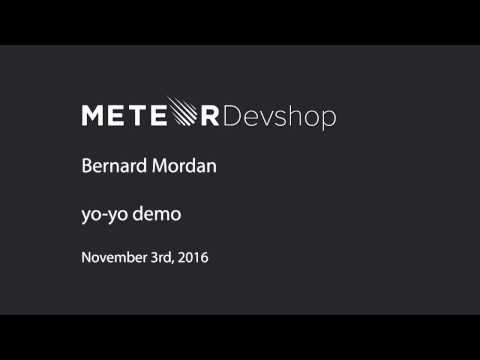 Bernard Mordan: Yo-yo demo -- Devshop London November 2016