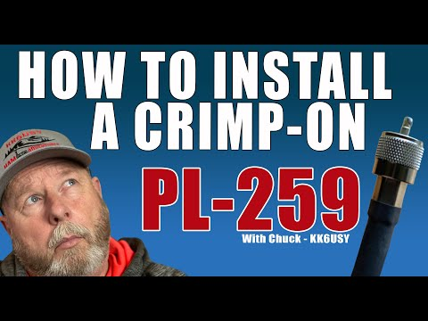 How to install a crimp-on PL-259.