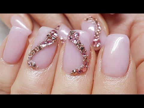 Crystal's & Caviar Acrylic Nails
