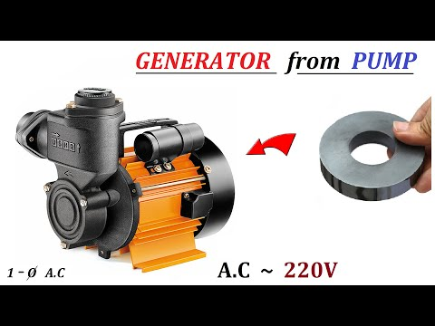 220V 500W AC Electric Dynamo Generator from Induction Motor Water Pump