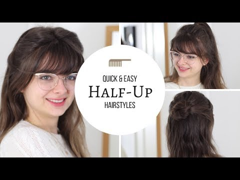 Half-Ups In A Hurry | Hairstyles Under 1 Minute