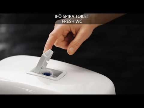 Fresh WC - tilføjes gennem skylleknappen på Ifö Spira toilet