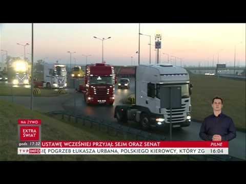 Kierowcy ciężarówek oddali hołd zamordowanemu Łukaszowi Urbanowi