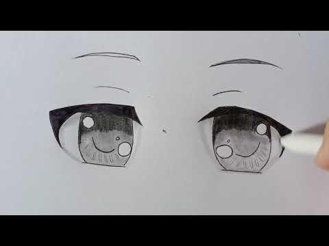 วาดตาอนิเมะง่ายๆ-ตาน่ารัก-|-Ho
