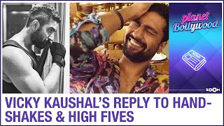 Vicky Kaushal's HILARIOUS response to handshakes and high fives - ZOOMDEKHO
