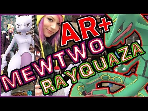 connectYoutube - MEWTWO & RAYQUAZA AR PLUS MODE RAIDS IN POKEMON GO!