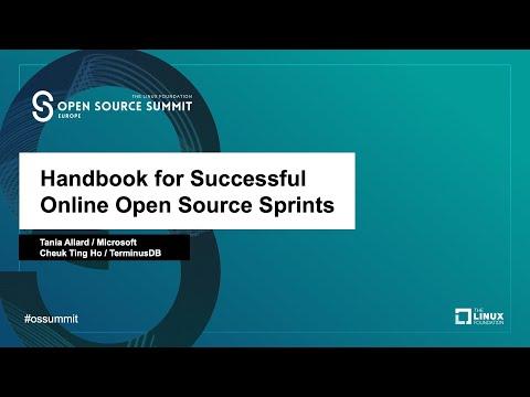 Handbook for Successful Online Open Source Sprints - Tania Allard & Cheuk Ting Ho