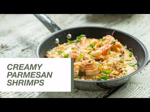 Creamy Parmesan and Basil Shrimps   Food Channel L Recipes
