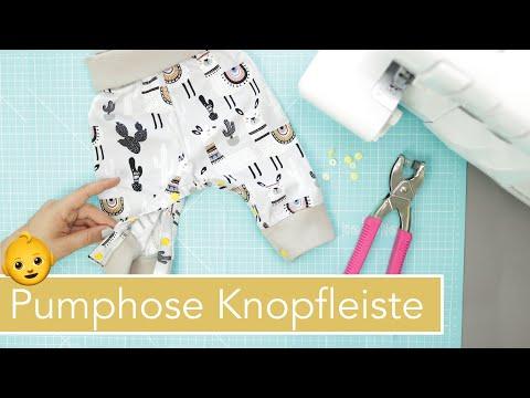 Pumphose nähen mit Knopfleiste zum Wickeln | kostenloses Schnittmuster