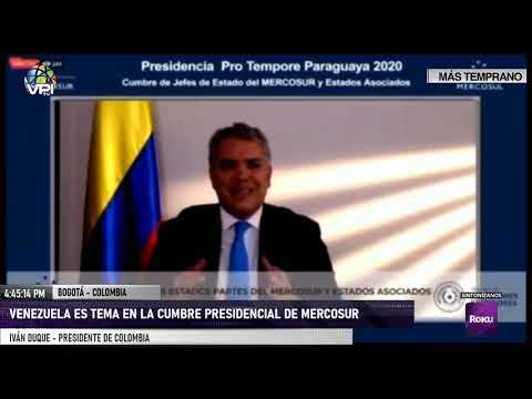Colombia - Venezuela es tema en la Cumbre presidencial de Mercosur - VPItv