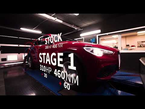 Alfa Romeo Stelvio 2.0 TB Remap Stage 1 By BR-Performance