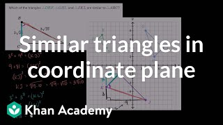 Identifying similar triangles in the coordinate plane