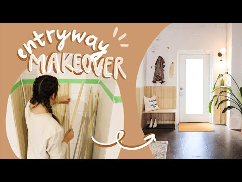 making over our boring entryway into something way cooler | Loft Vibes | Season 4 | EP7