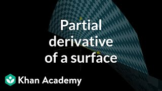 Partial derivative of a parametric surface, part 1