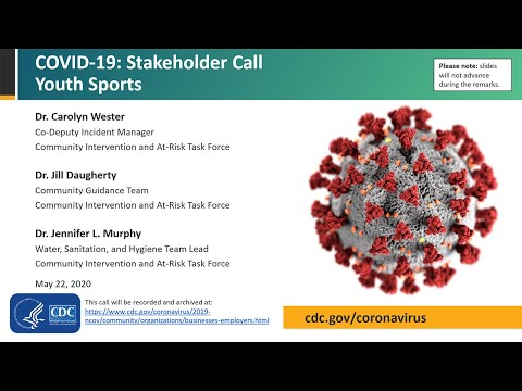CDC Stakeholder Call: Youth Sports