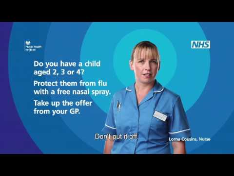 Protect your children from flu with a free nasal spray