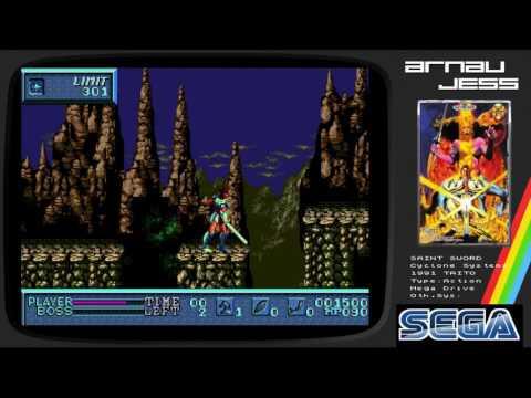 SAINT SWORD Sega Mega Drive by TAITO