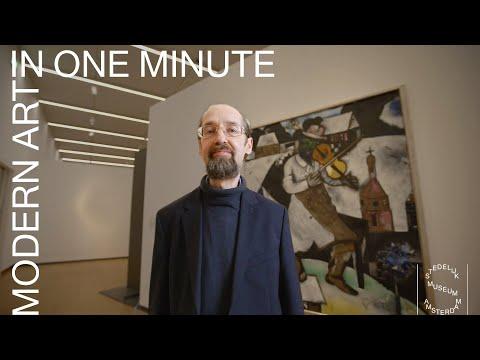 MODERN ART IN 1 MINUTE - Onderzoeker Maurice Rummens over De Violist van Marc Chagall photo