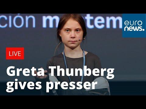 Greta Thunberg gives press conference | LIVE