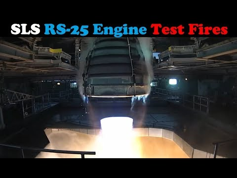 connectYoutube - NASA Test Fires RS-25 Engine For Space Launch System (SLS)