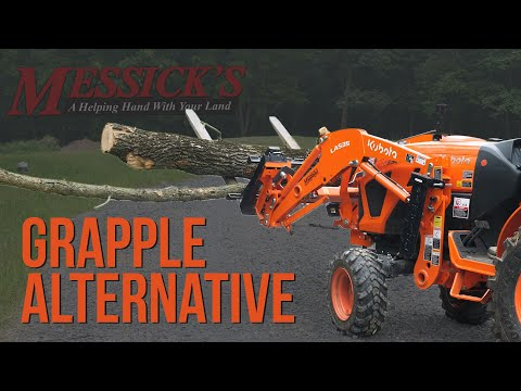 Can pallet forks be a grapple alternative? Picture