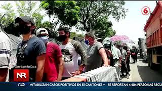 Comienzan a hacer pruebas Covid 19 a los nicaragüenses varados en frontera norte