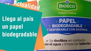 Llega al país papel biodegradable que se deshace en el inodoro | Actualidad