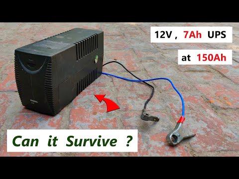 Can a 12V 7Ah UPS Inverter ( 220v ) run with a 14.8V 150Ah Battery ?