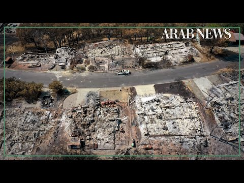California: Drone footage of Berry Creek after fire