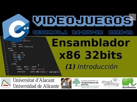 C++ : Introducción a ensamblador x86 de 32 bits #Videojuegos #UA [ SP1.1 2020 ]